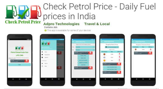 Mobile App for check petrol price